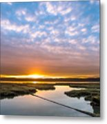 Spring Sunrise On Arcata Bay Metal Print