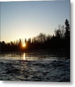 Spring Sunrise Over Mississippi River Metal Print