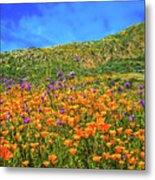 Spring Superbloom In Walker Canyon Metal Print