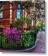 Spring Time In The City Metal Print