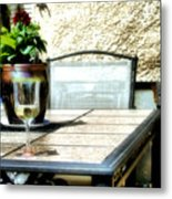 Spring Time Wine Metal Print