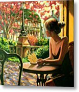 Spring, View From A Cafe Window In Paris Metal Print
