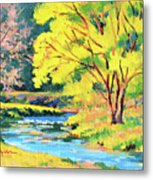 Spring Willow Metal Print