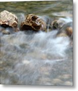 Spring With Rocks Nature Scene Metal Print