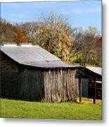 Spring Woods And Barn Metal Print