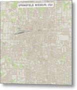 Springfield Missouri Us City Street Map Metal Print