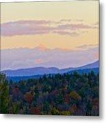 Springfield New Hampshire Mountain Veiw Fall Colors Metal Print