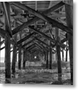 Springmaid Pier In Myrtle Beach South Carolina Metal Print