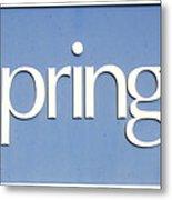 Springs Blue Metal Print