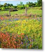 Spring's Floral Quilt Metal Print