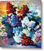 Springs Smile - Palette Knife Oil Painting On Canvas By Leonid Afremov Metal Print
