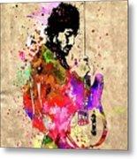 Springsteen Colored Grunge Metal Print