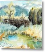 springtime at Fred Baca Park in Taos, NM Metal Print