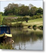Springtime By The Canal Metal Print