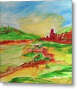 Springtime In The Valley Metal Print