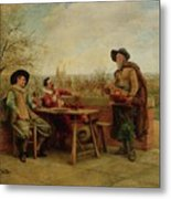 Springtime On The Terrace Metal Print