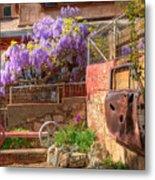 Springtime Wisteria In Old Bisbee Metal Print