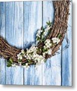 Springtime Wreath Metal Print
