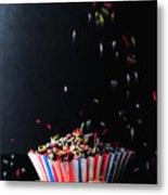 Sprinkles On Cup Cakes Metal Print