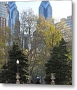 Sprintime At Rittenhouse Square Metal Print