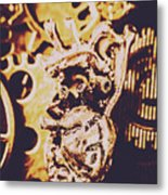 Sprockets And Clockwork Hearts Metal Print