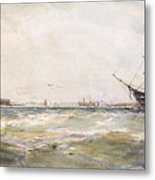 Squally Weather, Portsmouth Metal Print