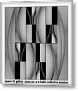 square 69 chess art  a w baltic collective galler  An Out Of Context Image Metal Print
