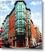 Square In Old Boston Metal Print by Elena Elisseeva