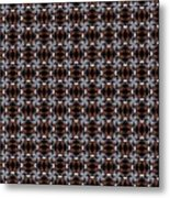 Square Rose Woven Pattern Metal Print