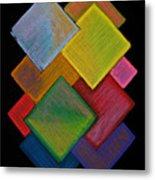 Squared Rainbow Metal Print