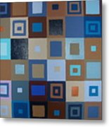 Squares Have It Metal Print
