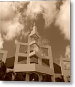 Squares In The Sky Metal Print