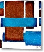 Squares Long And Short Metal Print