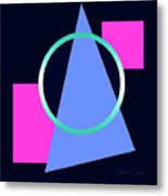 Squares Subsumed By Cirle Metal Print