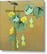 Squash Vine And Bamboo Metal Print