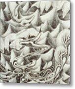 Squidmus Abstractus Metal Print by Sean Imler