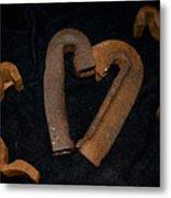 Squiggle Heart Metal Print