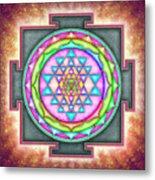 Sri Yantra - Artwork 7.3 Metal Print