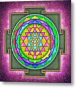Sri Yantra - Artwork 7.5 Metal Print