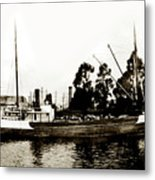 Steam Schooner Helene At San Padero Metal Print