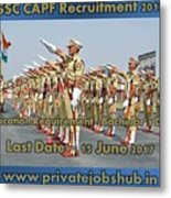 Ssc Capf Recruitment Metal Print
