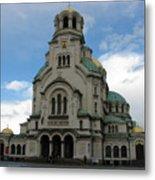 St Alexander Nevski Cathedral In Sofiq Metal Print