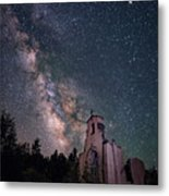 St. Aloysius Church Ruin Under The Stars Metal Print