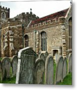 Church Of All Saints, Houghton Conquest, Uk Metal Print