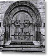 St Ann Church - Bw Metal Print