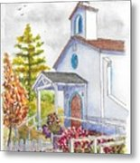 St. Anthony's Catholic Church, Mendocino, California Metal Print