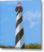 St Augusstine Lighthouse Metal Print