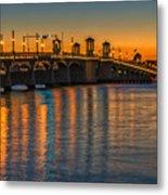 St Augustine Bridge Of Lions Sunset Dsc00433_16 Metal Print