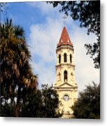 St Augustine Cathedral Metal Print by Thomas R Fletcher