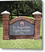 St. Augustine Florida Lighthouse Metal Print